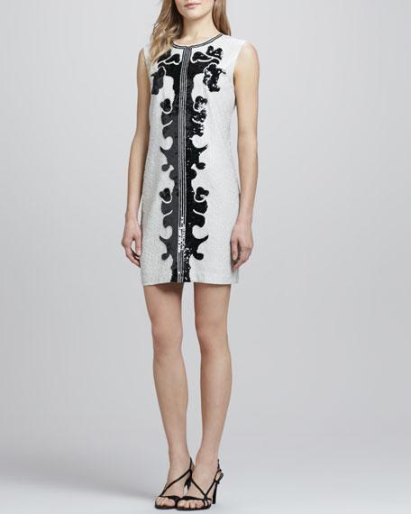 Geri Sleeveless Sequined Dress