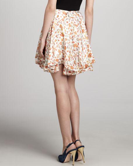 Printed Full Circle Skirt