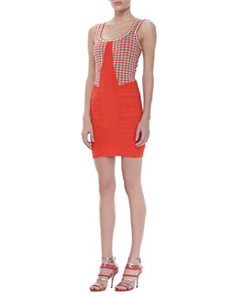 ZAC Zac Posen Polka Dot Combo Dress