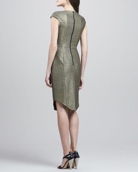 Demtrio Metallic Scoop-Neck Dress