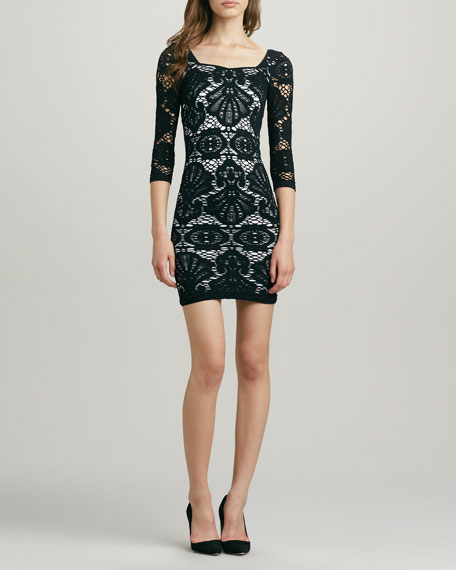 Fitted Medallion Lace Dress