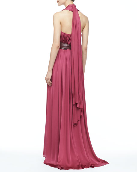 Madelaina Pleated Gown