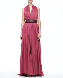 Catherine Deane Madelaina Pleated Gown