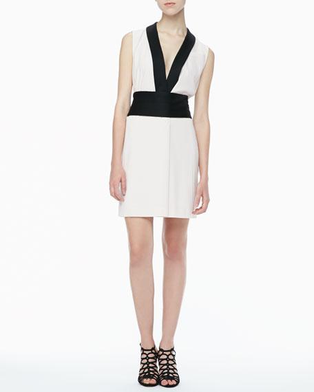 Anya Two-Tone Crepe Dress