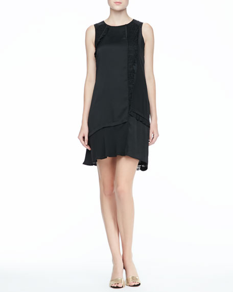 Victoria Lace-Panel Dress