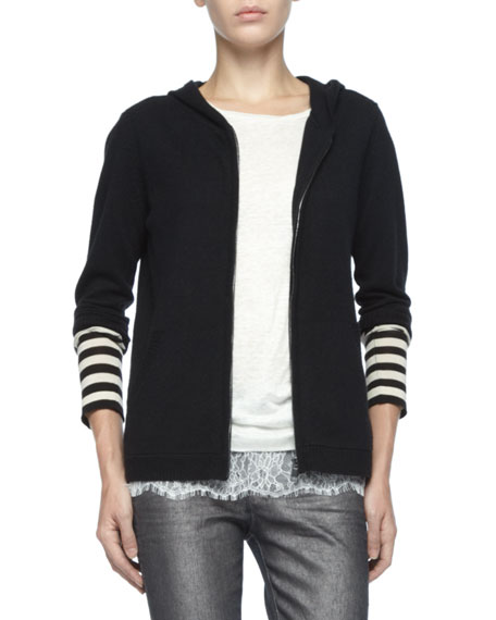 Zag Hooded Cashmere Sweater