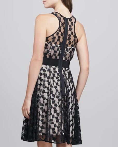 Lace-Overlay Sweetheart Dress