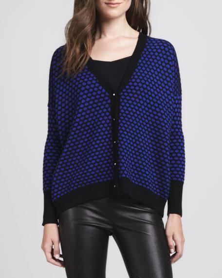 Geometric Jacquard Wool Cardigan
