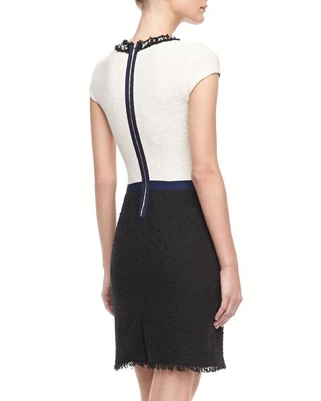 Two-Tone Tweed Dress