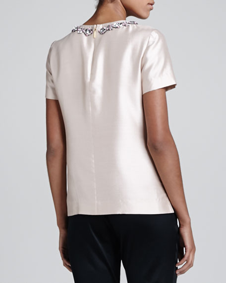 Vesper Beaded Sateen Top