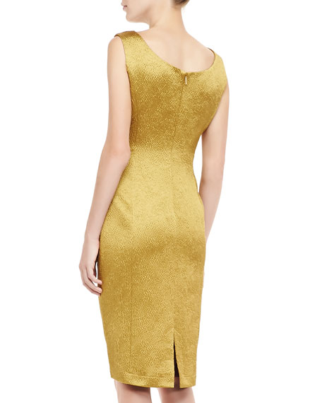 Tory Burch Birdie Embroidered Shimmery Dress