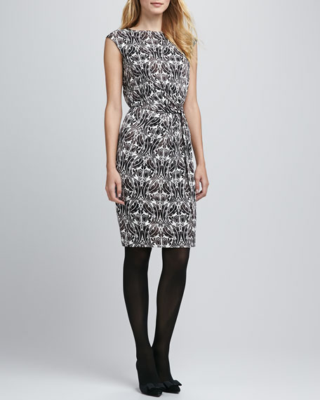 Odila Printed Silk Dress