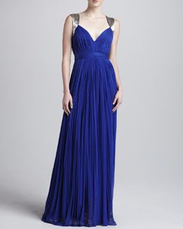 Catherine Deane Dasha Long Pleated Gown
