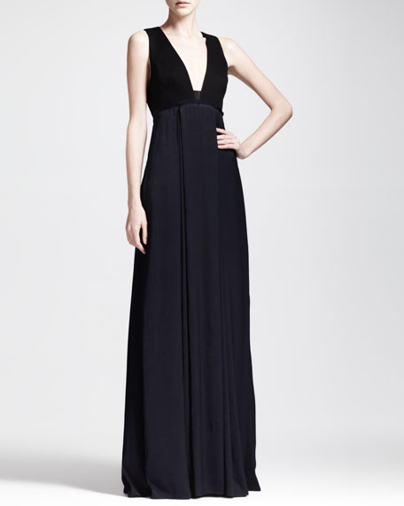 Kelly Two-Tone Long Dress