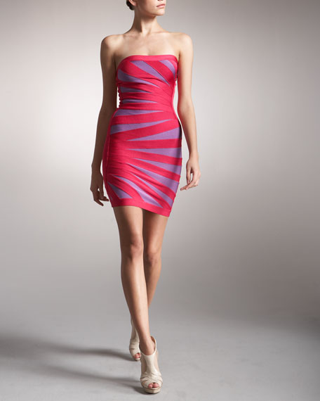 Strapless Rays Bandage Dress