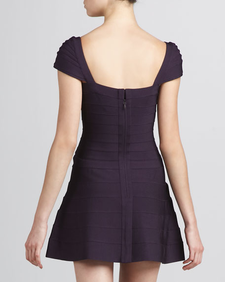 A-Line Bandage Dress, Rich Plum