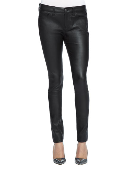 Skinny Leather Ankle Pants