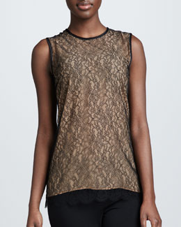 Michael Kors Chantilly Lace Shell