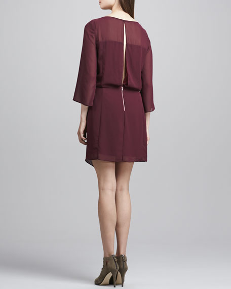 Surai Chiffon Faux-Wrap Dress