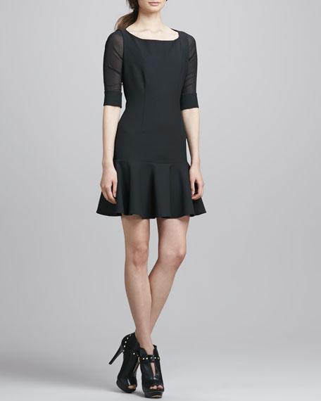 Amalia Drop-Skirt Dress