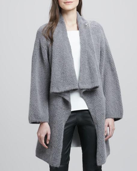 Oversize Fuzzy Knit Cardigan