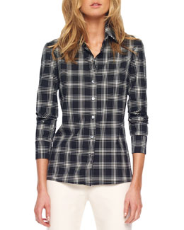 Michael Kors  Taos Plaid Button-Front Shirt