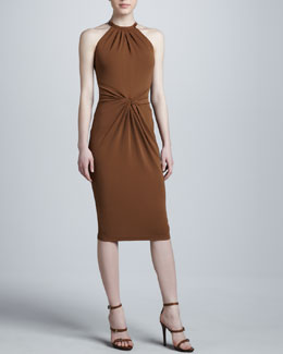 Michael Kors Jersey Halter Dress