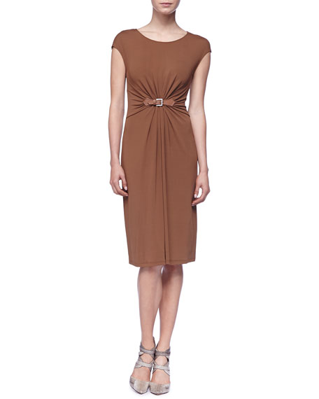 Cap-Sleeve Jersey Dress