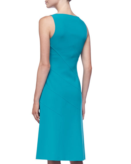 Sleeveless Asymmetric Panel Dress