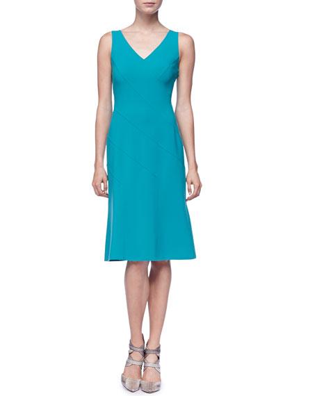 Sleeveless Asymmetric Panel Dress