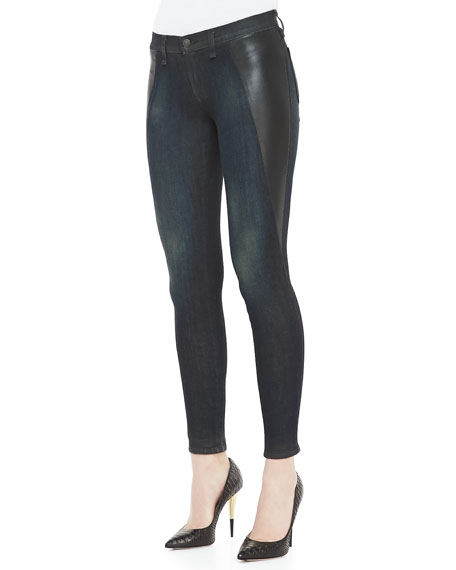 Mid-Rise Pop Paneled Leggings, Plymouth