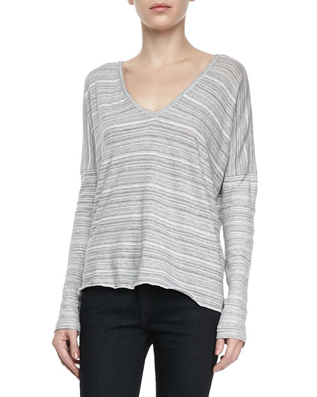 Nunavot Striped V-Neck Tee