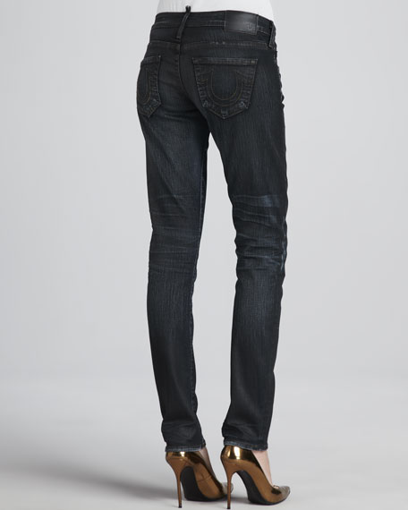 Jude Coated Skinny Jeans