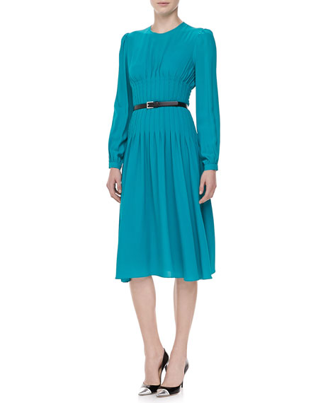 Georgette Pleated Dress