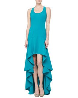 Michael Kors Sleeveless Side-Saddle Gown