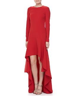 Michael Kors Side-Saddle Gown