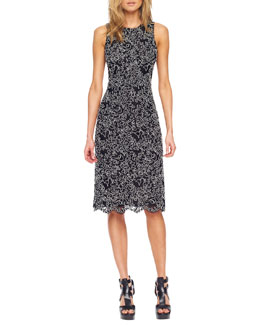 Michael Kors  Floral Soutache A-Line Dress