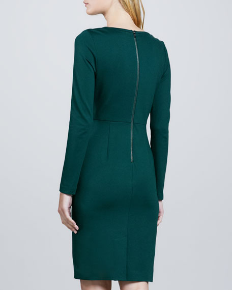 Sutherland Fitted Crepe Dress