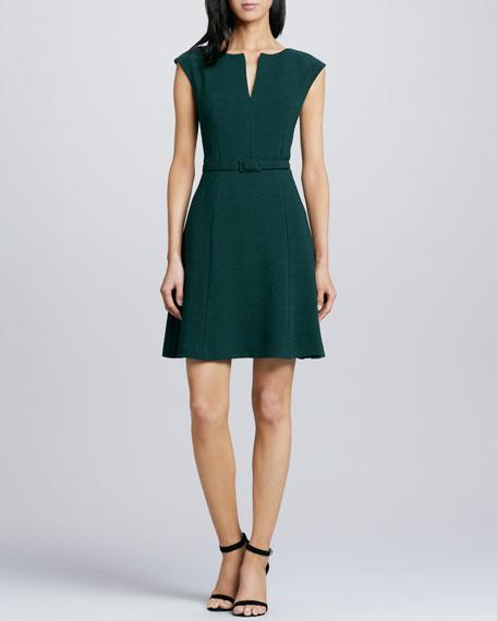Shanelle Belted Crepe Dress
