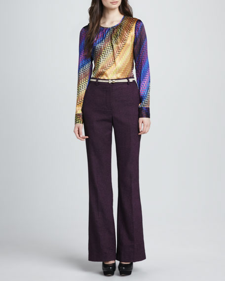 Approach Wide-Leg Tweed Pants
