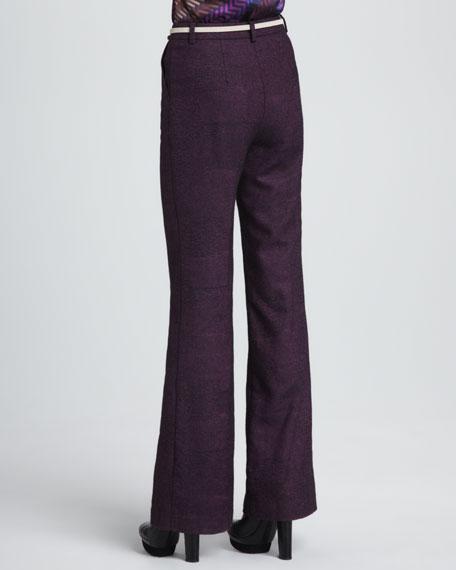 Approach Wide-Leg Tweed Pants