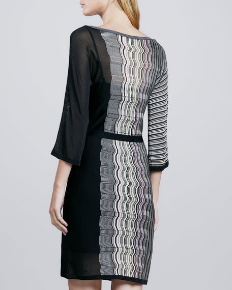 Zigzag Sheer-Side Dress