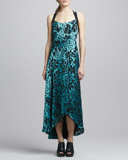 Nanette Lepore Sultry Floral-Flocked Dress