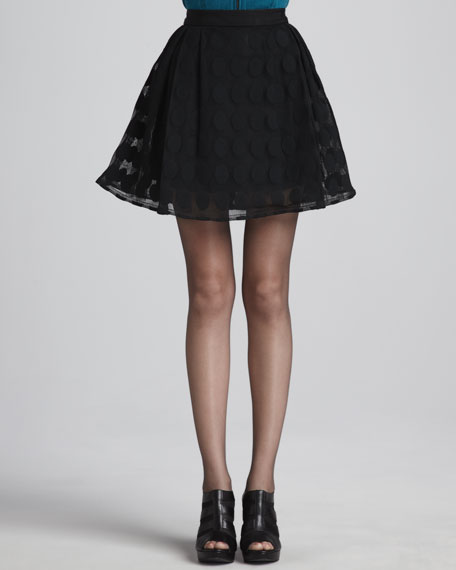 C'est la Vie Dotted Full Skirt