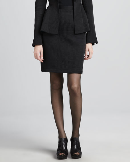 Silhouette Puckered Pencil Skirt