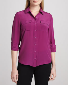 Dora Landa Long-Sleeve Button-Front Shirt