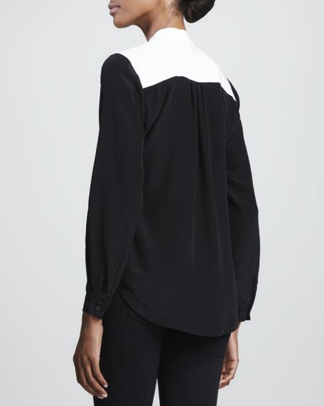 Colorblock Long-Sleeve Shirt