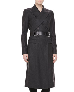Michael Kors Wool Crisscross Double-Breasted Coat
