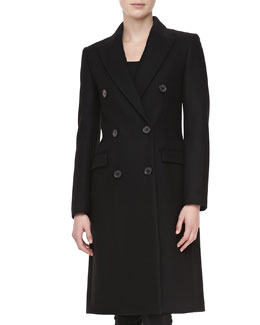 Michael Kors Melton Wool Double-Breasted Coat