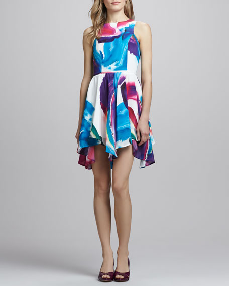 In The Clouds Printed Dress